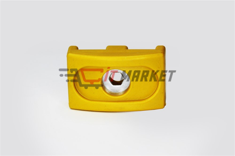 Yellow Metal Covered Plastic Clip 20 Pieces